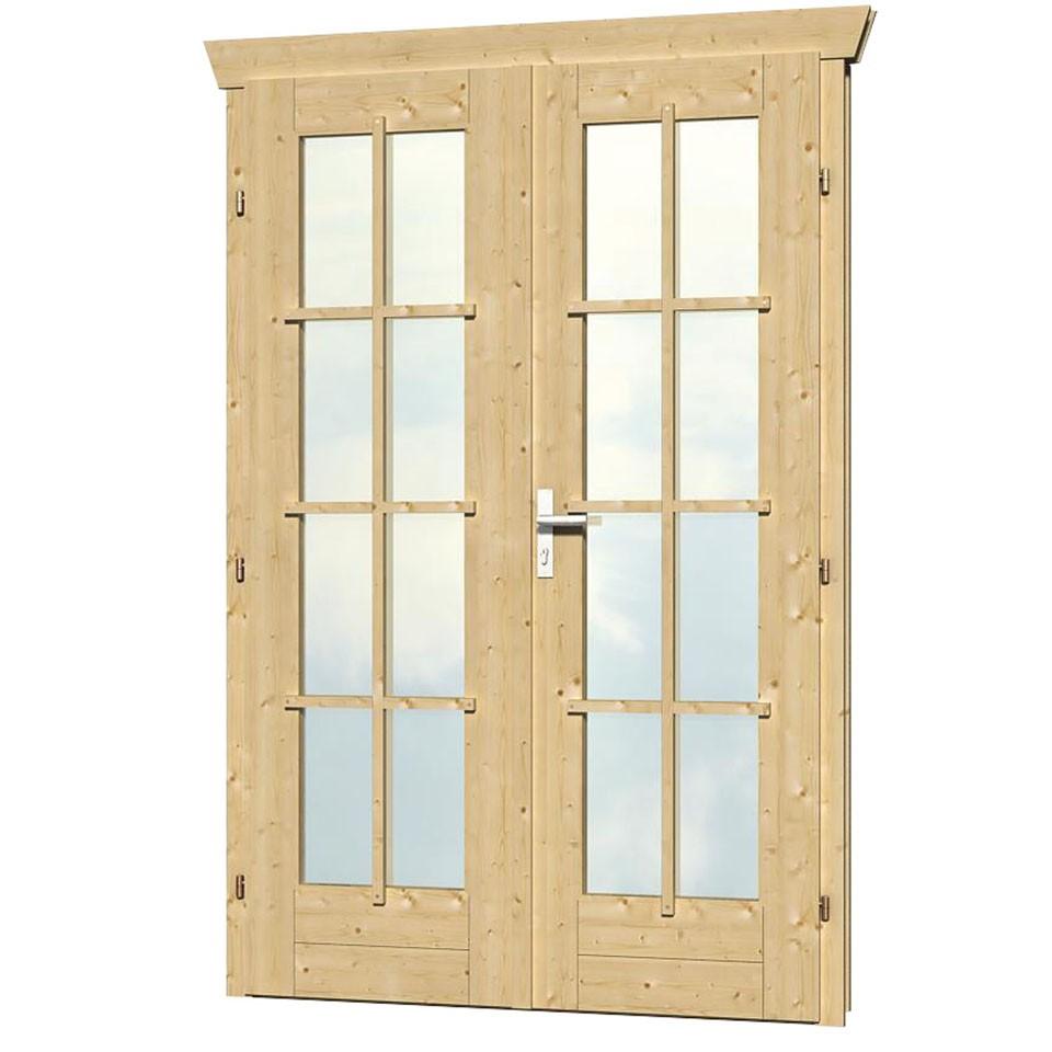 skan holz doppelt r vollverglast f r 28 mm gartenh user a. Black Bedroom Furniture Sets. Home Design Ideas