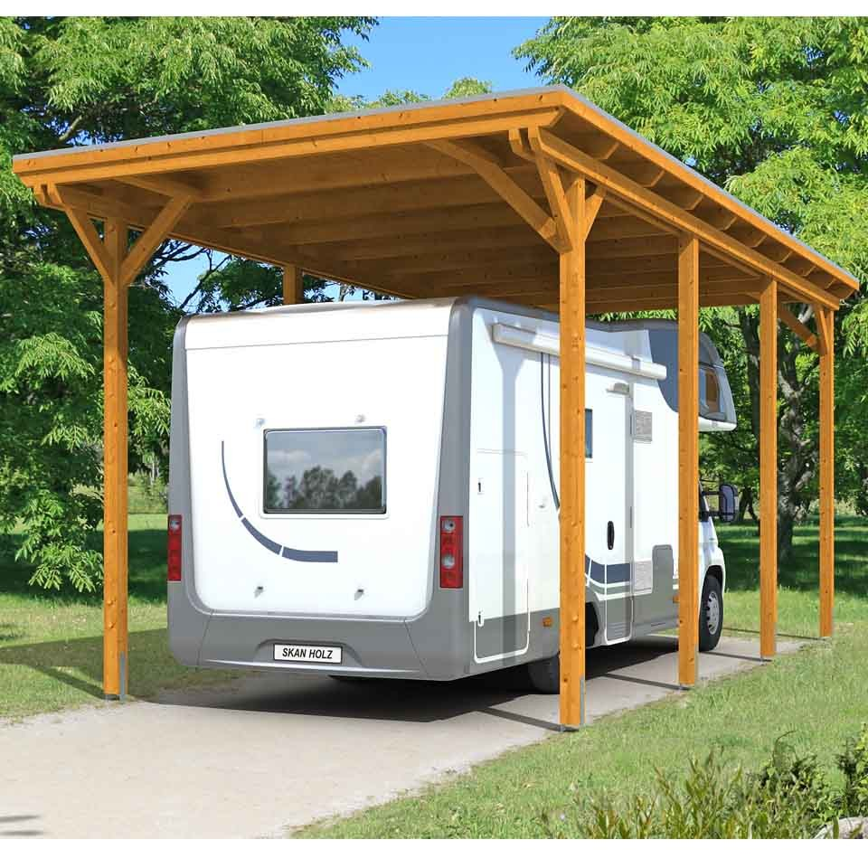 skan holz caravan carport emsland 404x846 cm mit erh hter einfahrt skanholz. Black Bedroom Furniture Sets. Home Design Ideas