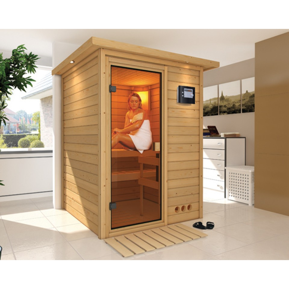karibu sauna nadja 38 mm massivholzsauna 230 volt plug play mein. Black Bedroom Furniture Sets. Home Design Ideas