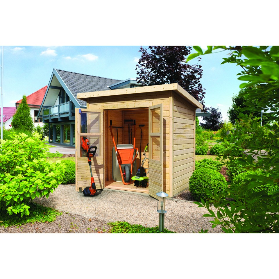 Karibu eco gartenhaus merseburg 2 3 4 5 6 14 mm mein for Karibu gartenhaus erfahrung
