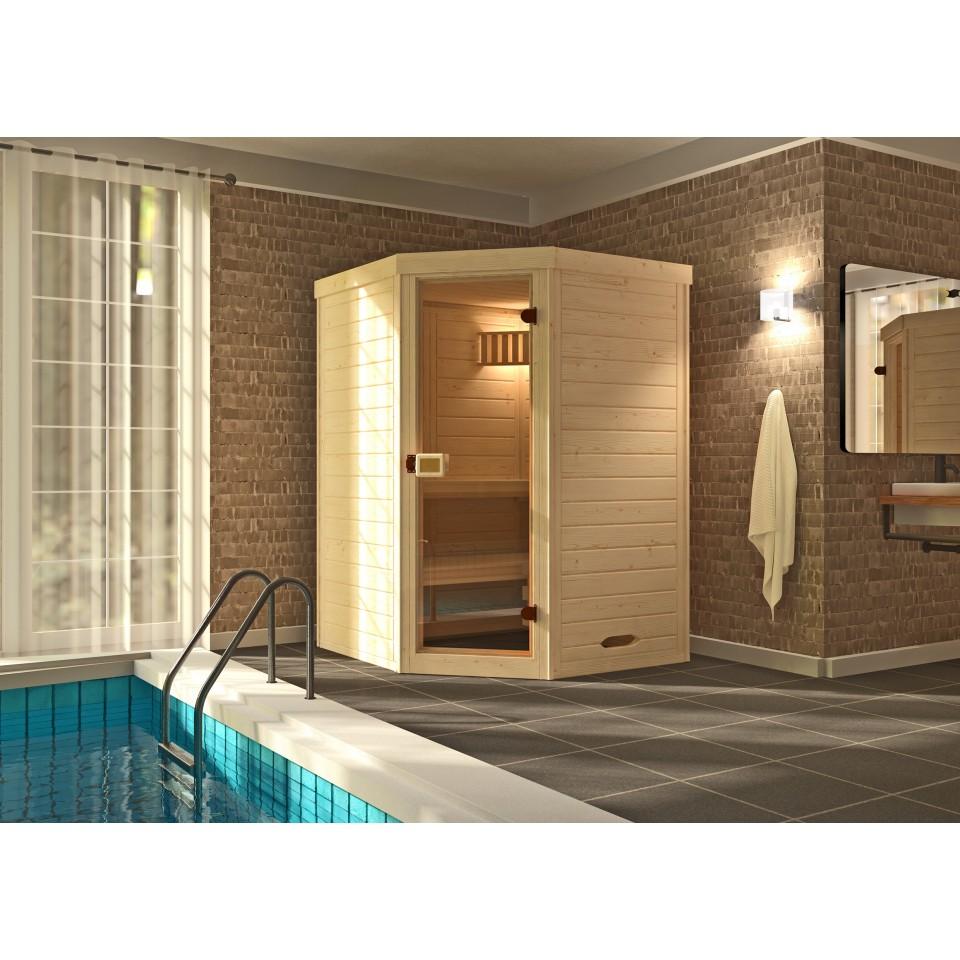weka massivholz elementsauna 528 gr 1 38 mm mit. Black Bedroom Furniture Sets. Home Design Ideas