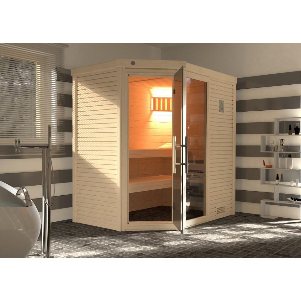weka premium massivholzsauna cubilis 1 mit glast r fenster inkl montageservice mein. Black Bedroom Furniture Sets. Home Design Ideas