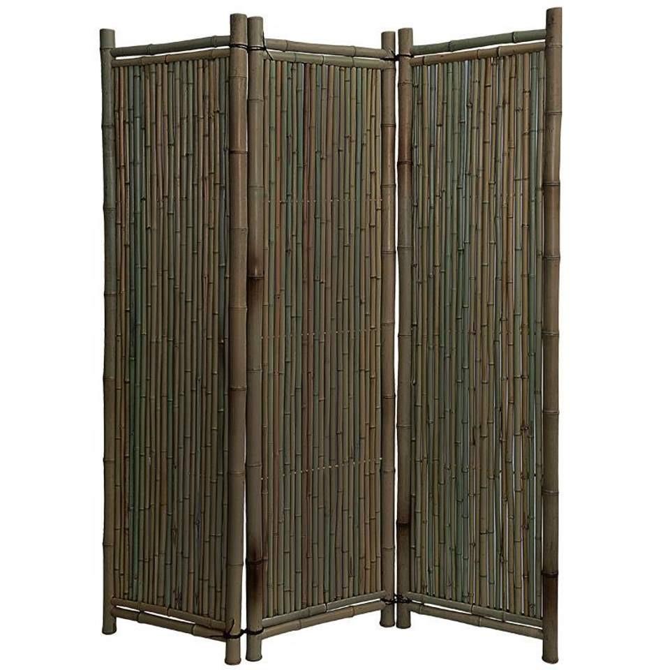 Noor bambus paravent black edition180 x 180 3 teilig for Paravent bambus