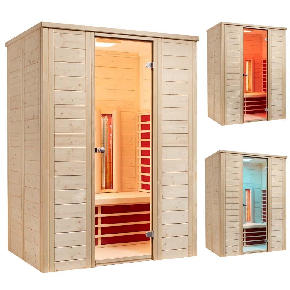 infraworld infrarotkabine triosol natura 148 plus mein. Black Bedroom Furniture Sets. Home Design Ideas
