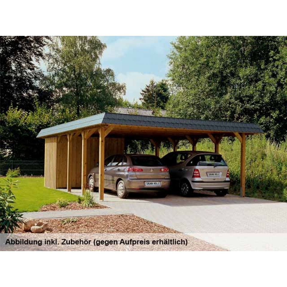 skan holz walmdach doppel carport skanholz. Black Bedroom Furniture Sets. Home Design Ideas