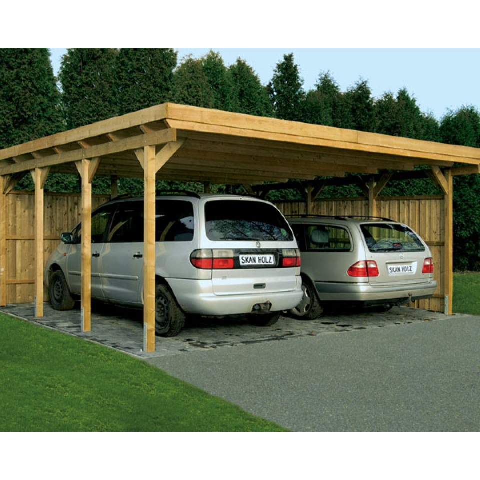 skanholz lausitz flachdach doppelcarport mein. Black Bedroom Furniture Sets. Home Design Ideas