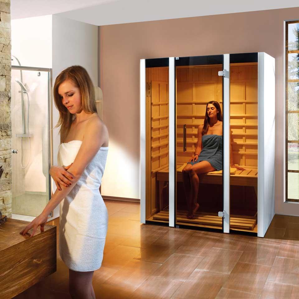 weka infrarotkabine osby 1 inkl fl chenstrahler mein. Black Bedroom Furniture Sets. Home Design Ideas