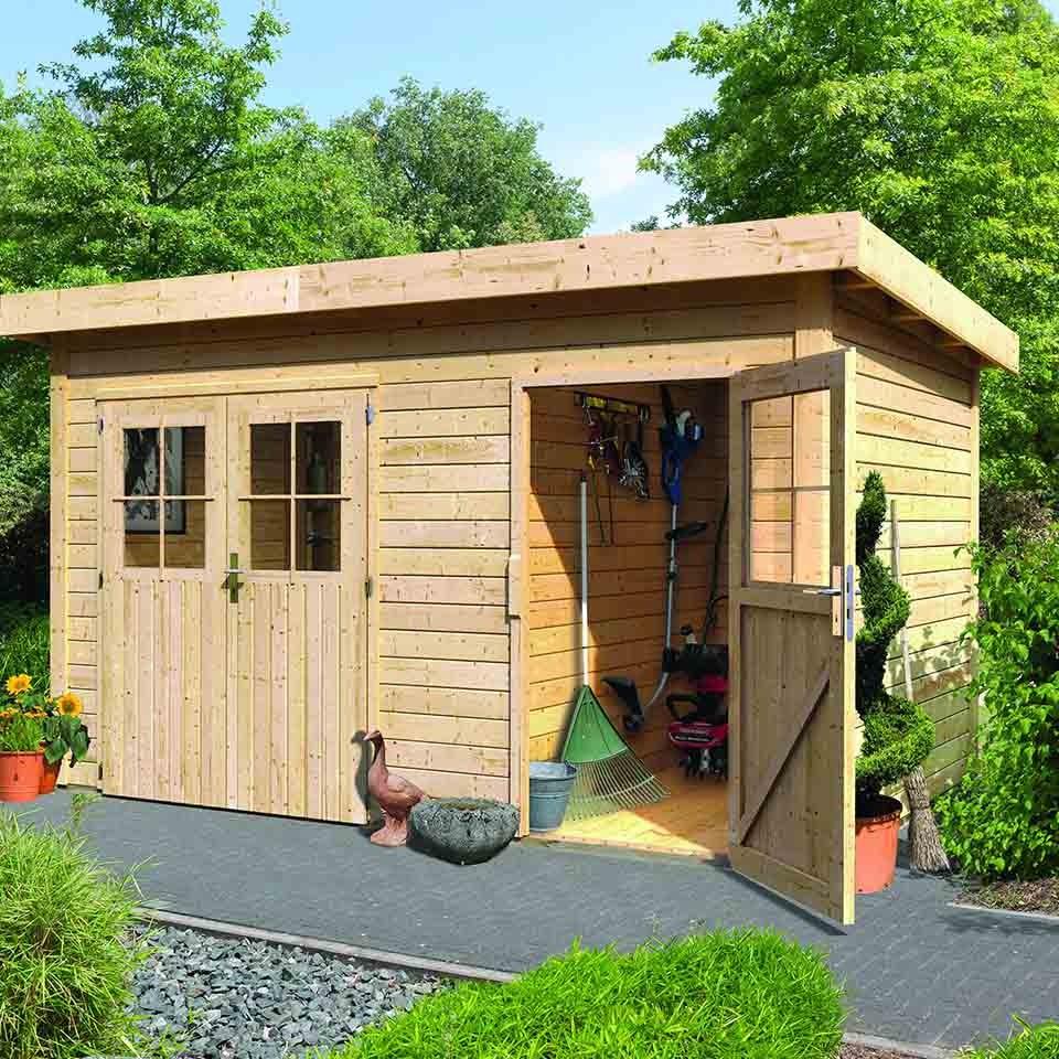 karibu woodfeeling gartenhaus tintrup 28 mm mein. Black Bedroom Furniture Sets. Home Design Ideas