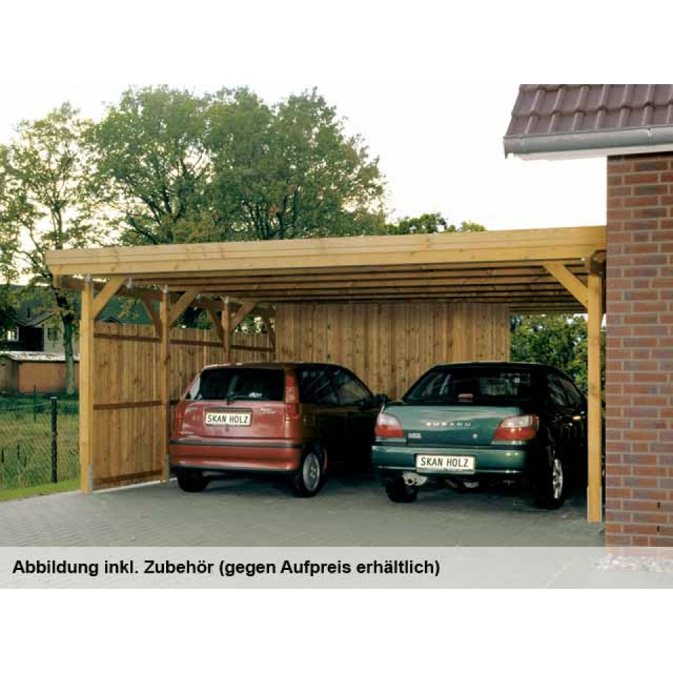 skan holz flachdach doppelcarport 115er mein. Black Bedroom Furniture Sets. Home Design Ideas