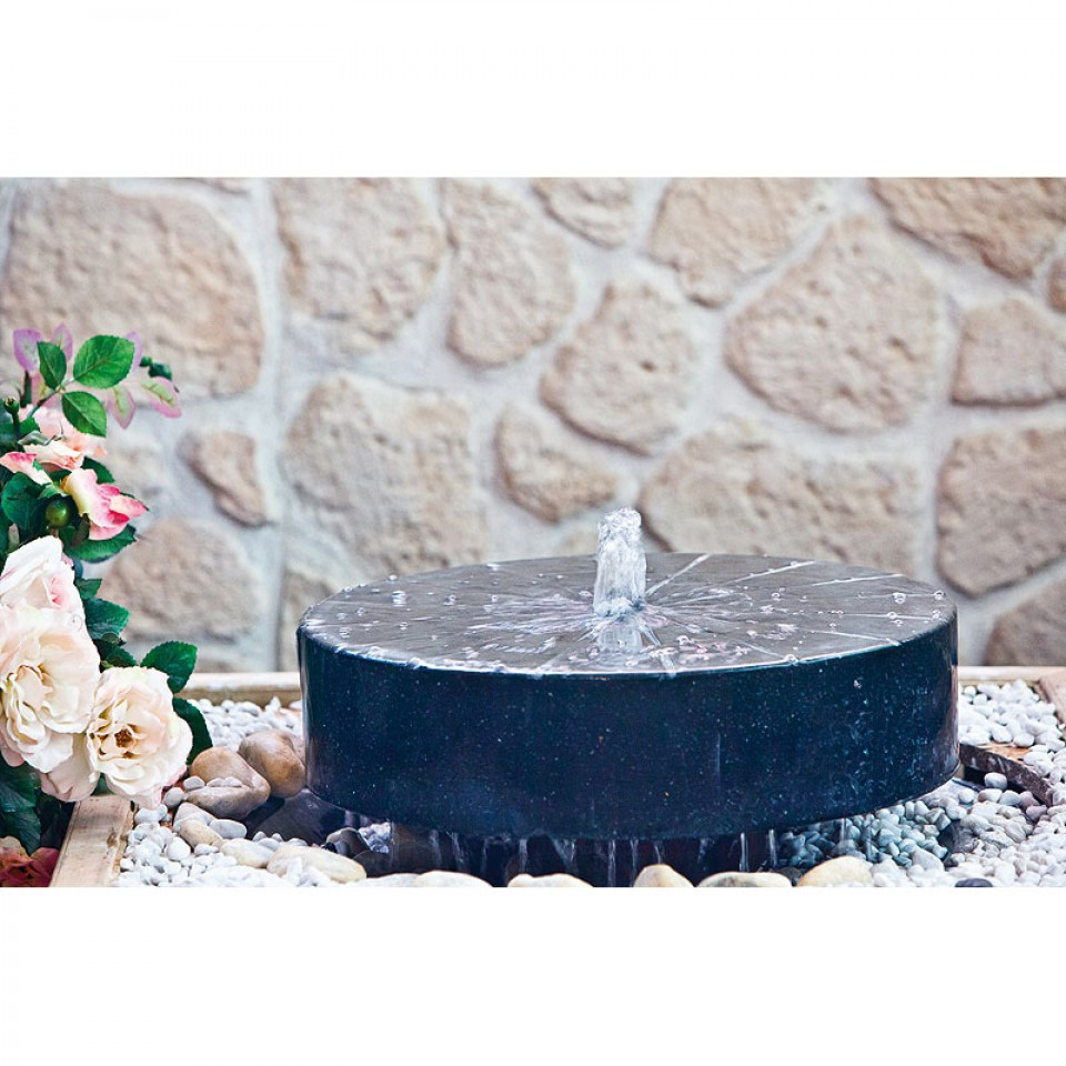 heissner terrazzo gartenbrunnen set millstone led. Black Bedroom Furniture Sets. Home Design Ideas