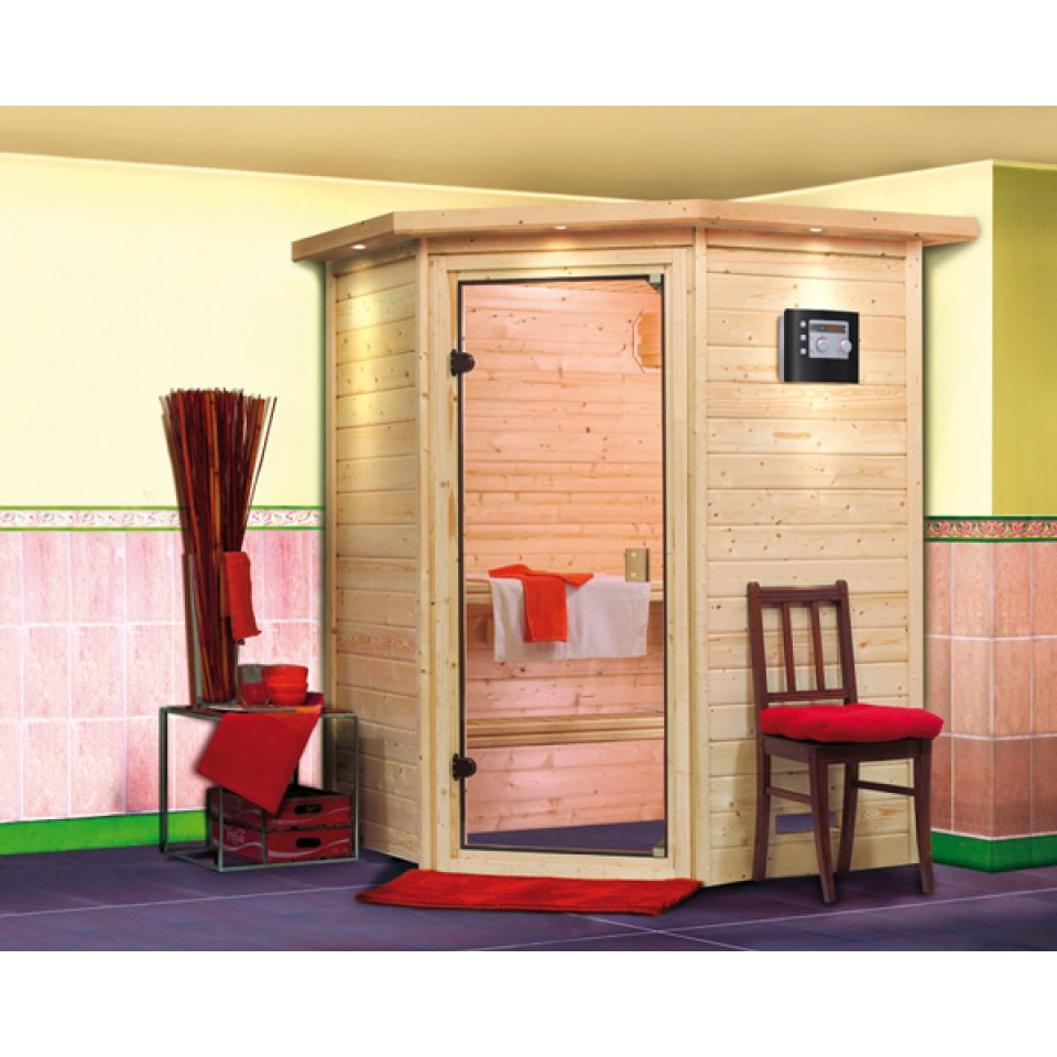 karibu sauna alicja 38 mm massivholzsauna 230 volt plug play mein. Black Bedroom Furniture Sets. Home Design Ideas