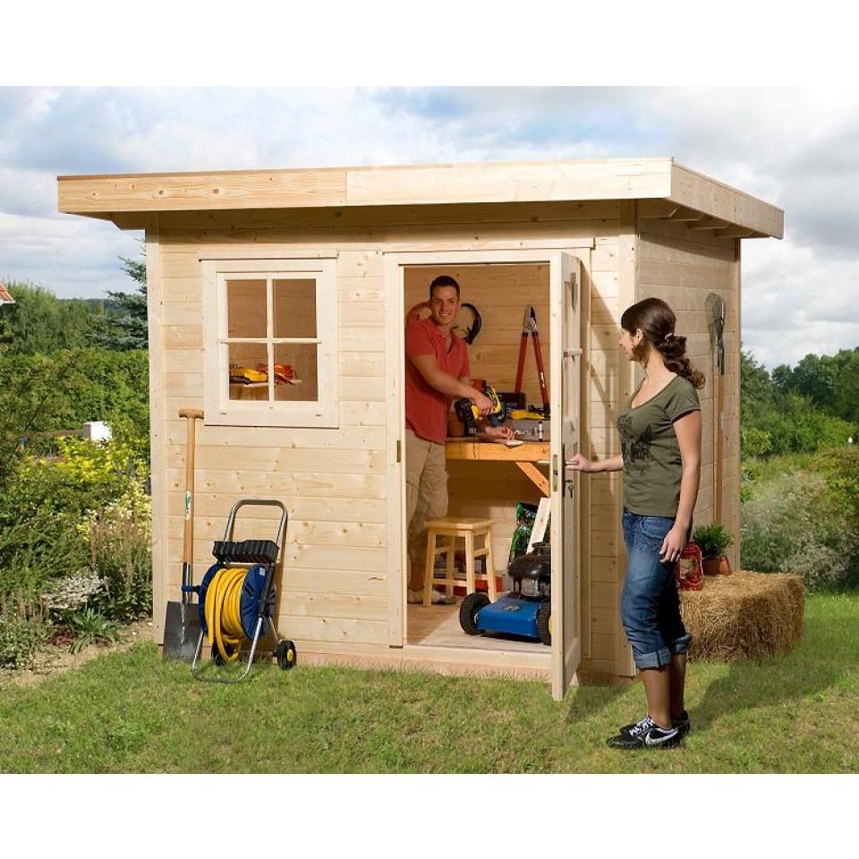 weka 28 mm gartenhaus 170 mit vordach 50 cm mein. Black Bedroom Furniture Sets. Home Design Ideas