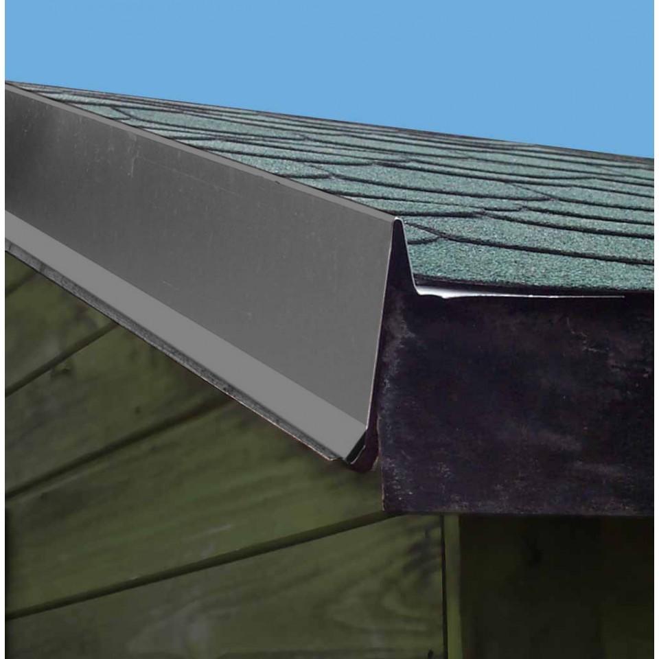 aluminium giebelabdeckung f r sattel oder flachdachh user. Black Bedroom Furniture Sets. Home Design Ideas