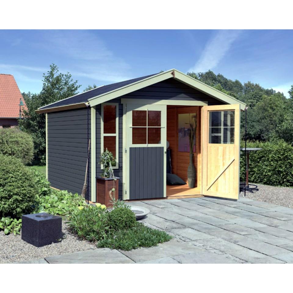 karibu eco gartenhaus altenau auburg 6 7 t rversion classic 19 mm mein. Black Bedroom Furniture Sets. Home Design Ideas