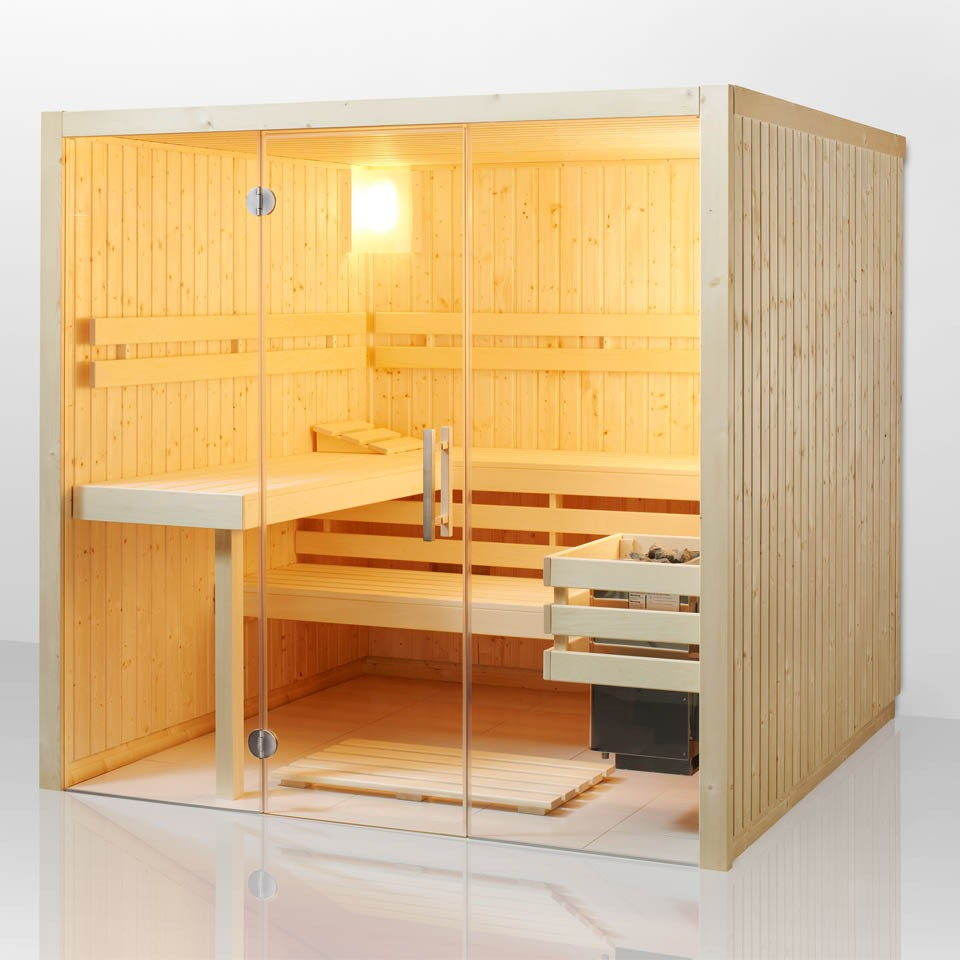 infraworld sauna fortuna elementsauna mit glasfront mein. Black Bedroom Furniture Sets. Home Design Ideas
