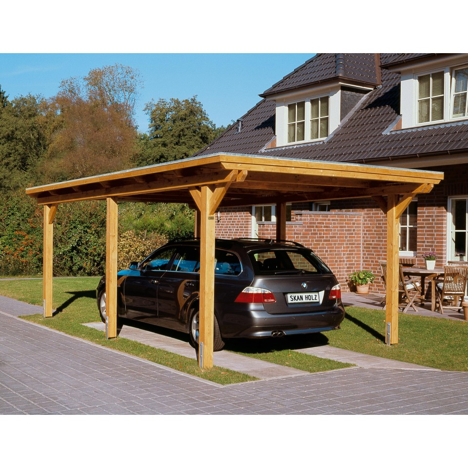 skan holz flachdach carport mein. Black Bedroom Furniture Sets. Home Design Ideas