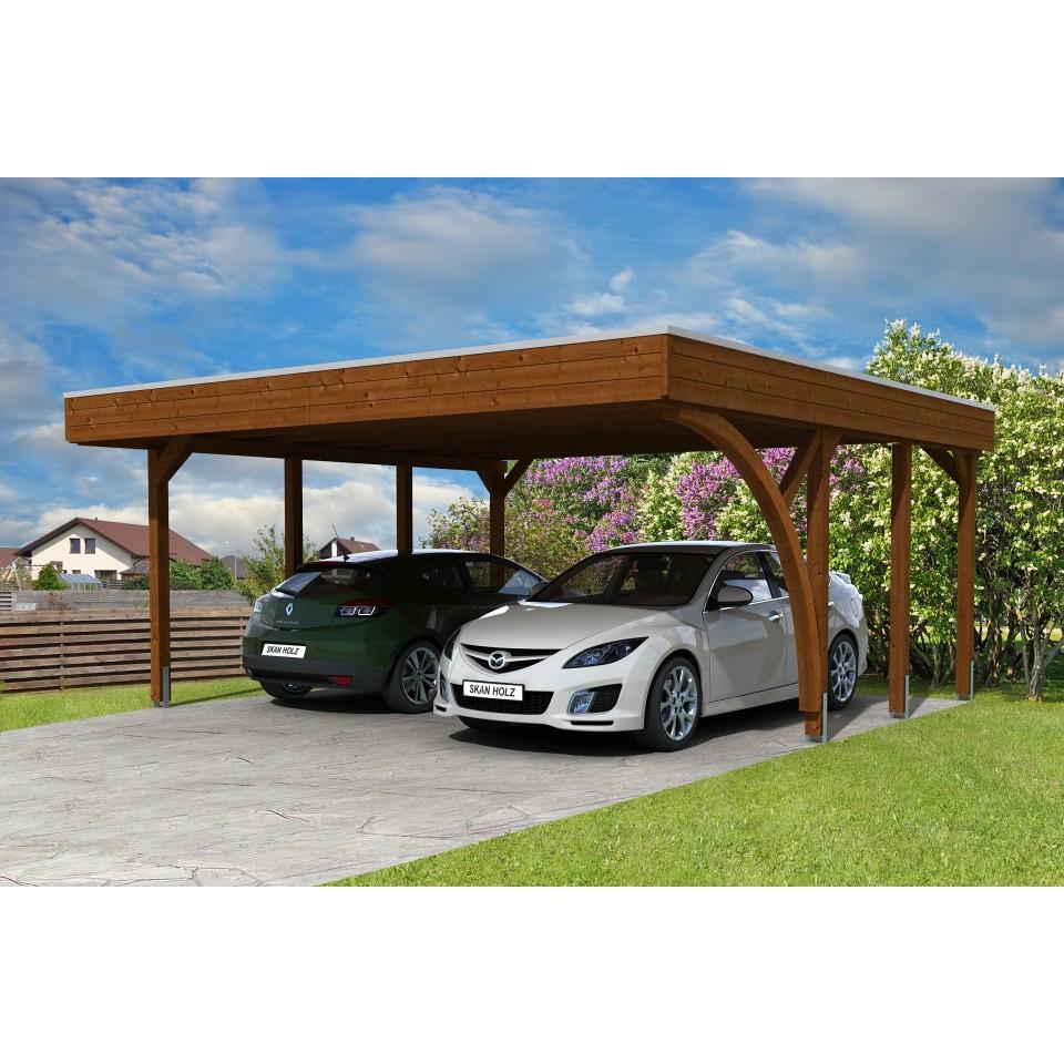 skan holz carport friesland 557x555 cm inkl 1 einfahrtsbogen sparset 7 mein. Black Bedroom Furniture Sets. Home Design Ideas