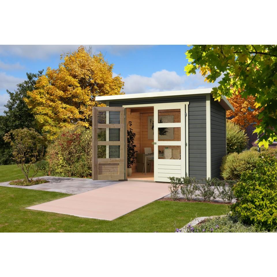 karibu woodfeeling gartenhaus stockach 1 2 3 4 5 19 mm. Black Bedroom Furniture Sets. Home Design Ideas