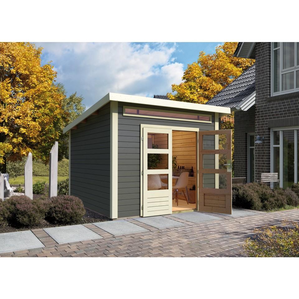 karibu woodfeeling gartenhaus kandern 1 3 6 7 9 28 mm. Black Bedroom Furniture Sets. Home Design Ideas