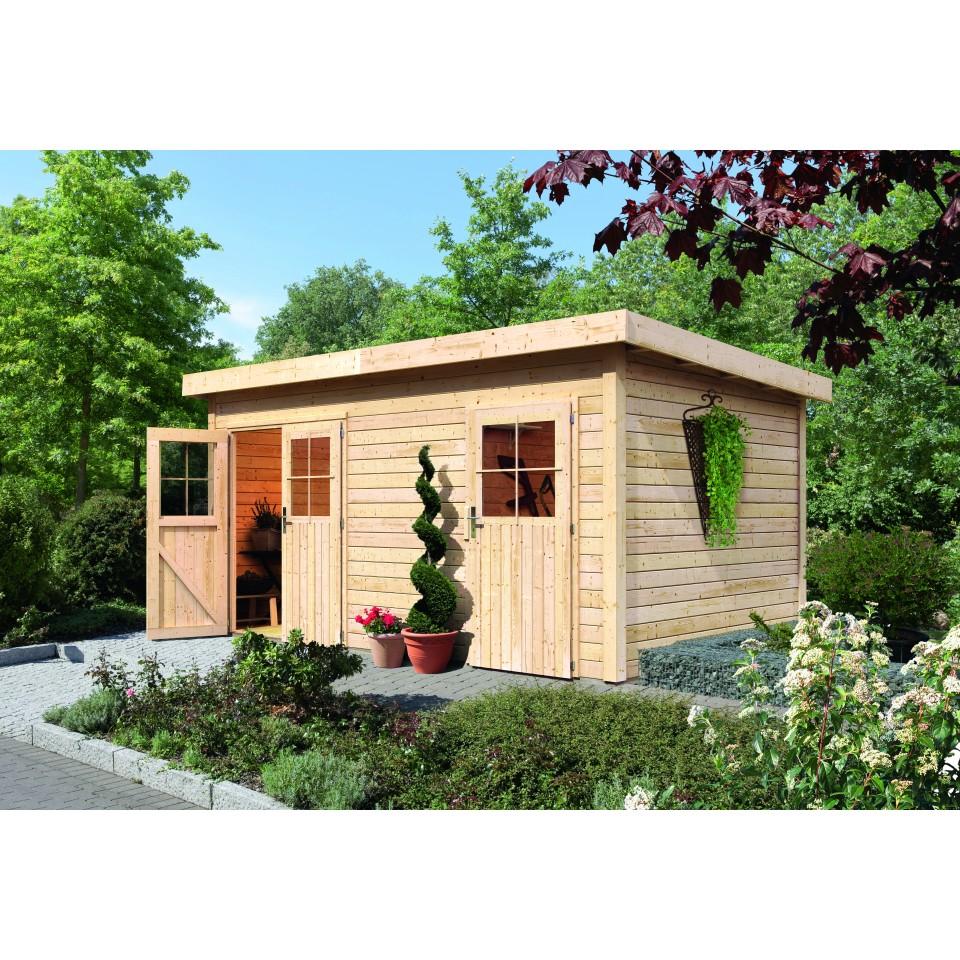 karibu woodfeeling gartenhaus mattrup 28 mm mein. Black Bedroom Furniture Sets. Home Design Ideas