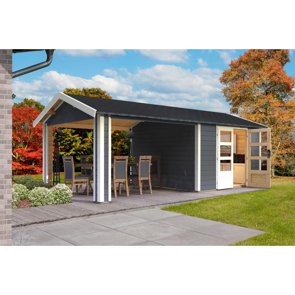 karibu woodfeeling gartenhaus tastrup 7 28 mm mein. Black Bedroom Furniture Sets. Home Design Ideas