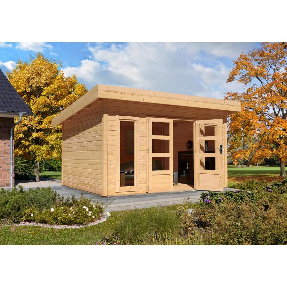 karibu woodfeeling gartenhaus northeim 6 38 mm mein. Black Bedroom Furniture Sets. Home Design Ideas