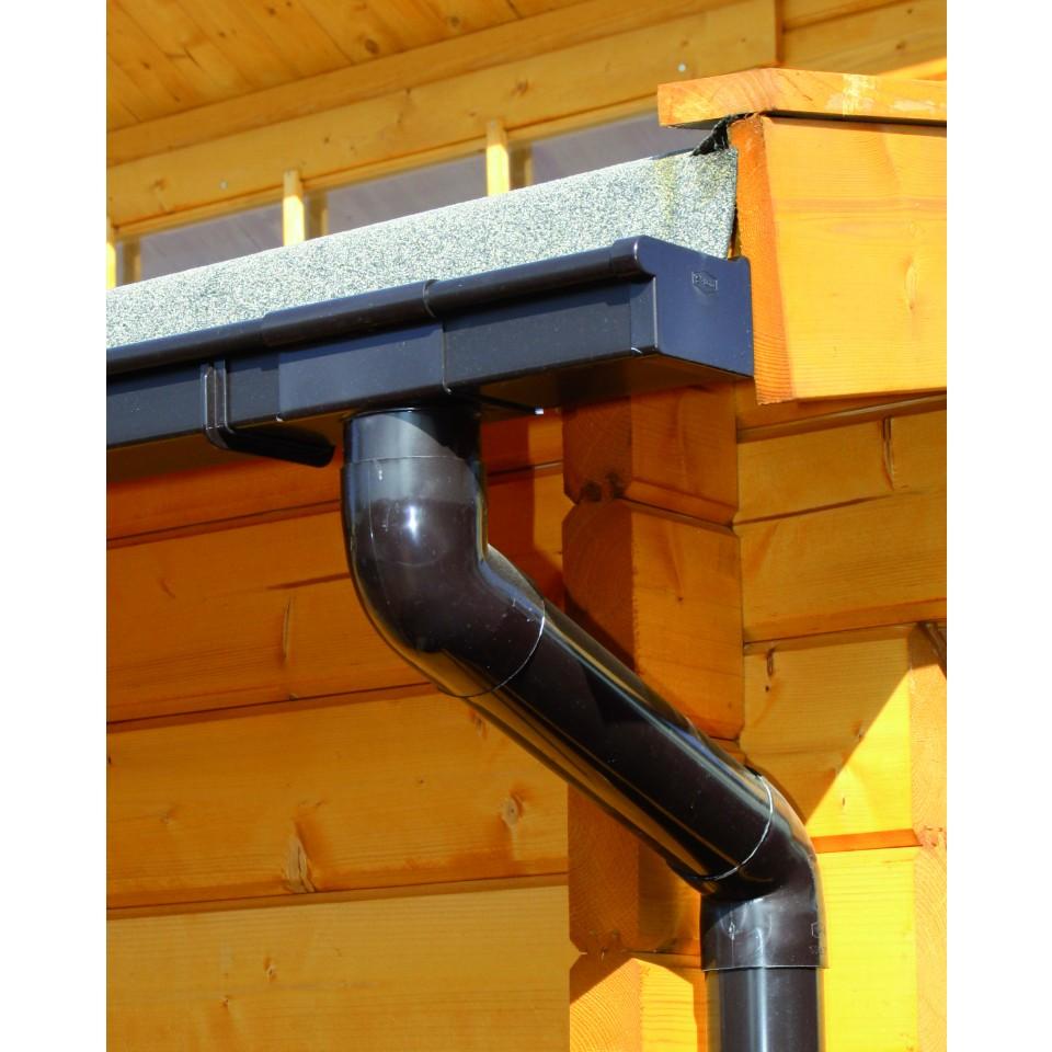 kunststoff dachrinnenset für karibu gartenhaus schönbuch | mein