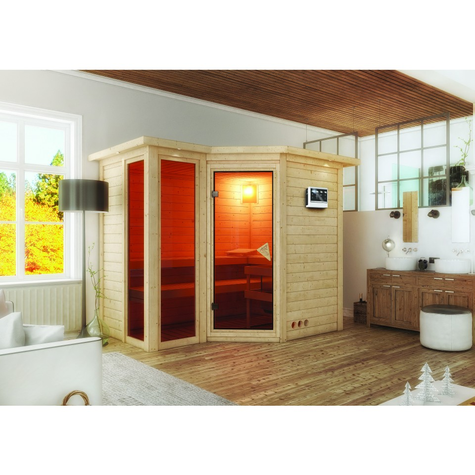 karibu massivholzsauna amara mein. Black Bedroom Furniture Sets. Home Design Ideas