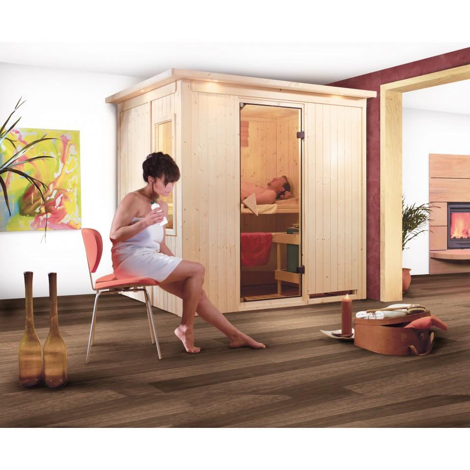 karibu sauna fanja 68 mm systemsauna 230 volt plug play mein. Black Bedroom Furniture Sets. Home Design Ideas