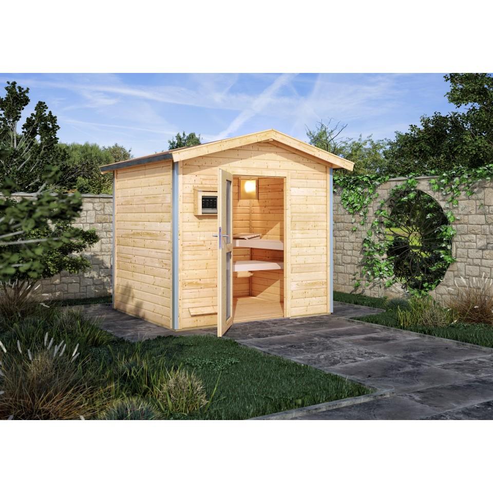 Karibu Gartensauna Satteldach Bosse | mein-saunashop.de
