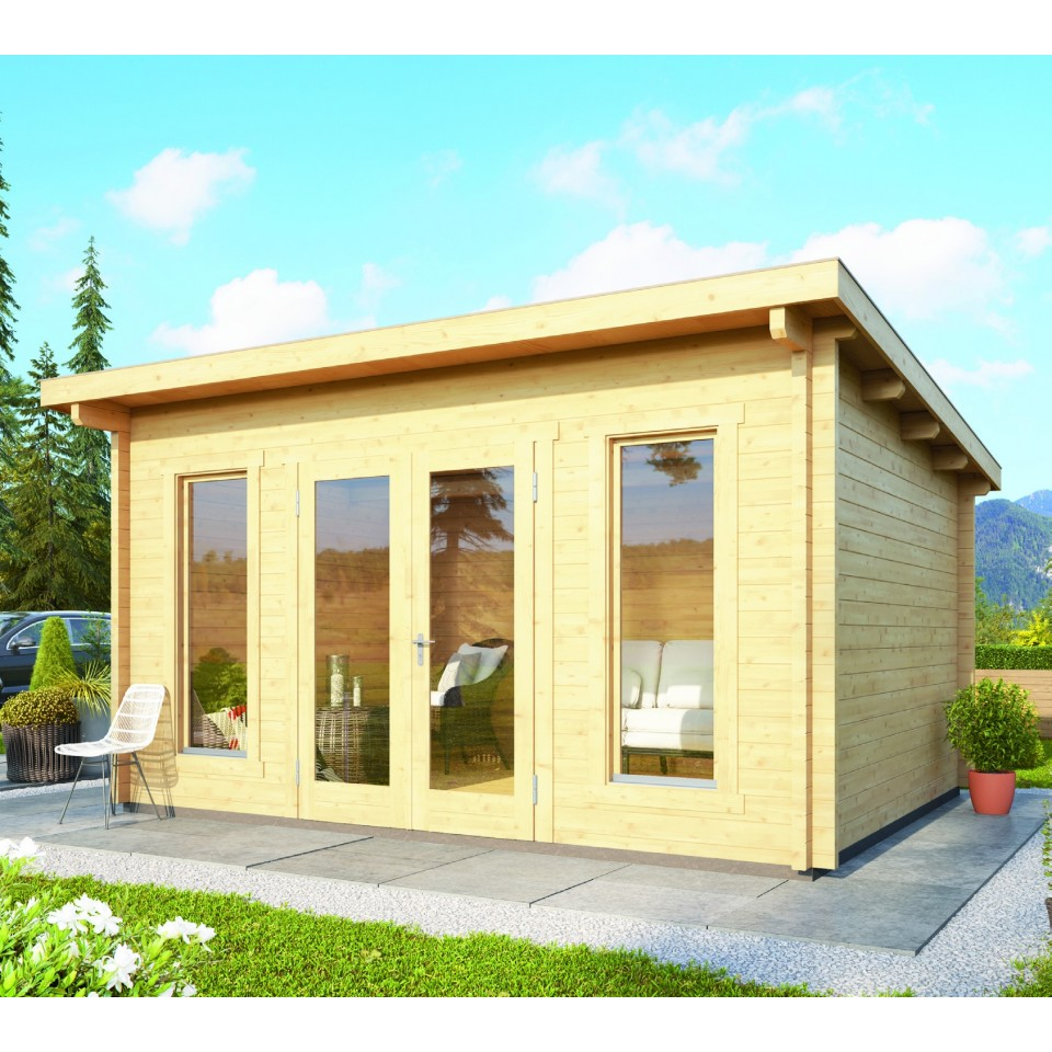 karibu woodfeeling gartenhaus stavanger 1 2 3 70 mm mein. Black Bedroom Furniture Sets. Home Design Ideas