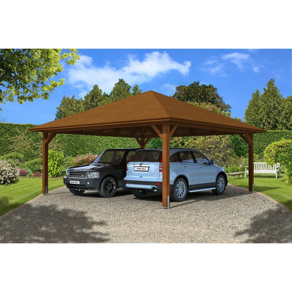 skan holz carport taunus 634 x 634 cm skanholz. Black Bedroom Furniture Sets. Home Design Ideas