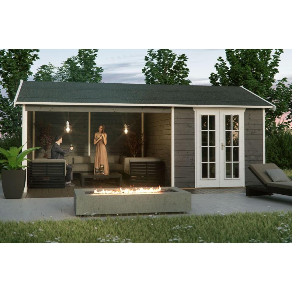 skan holz gartenhaus tilburg 28 mm skanholz. Black Bedroom Furniture Sets. Home Design Ideas