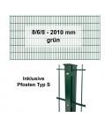 Kraus DS 8/6/8 - 2010 grün - Pfosten S Komplettset