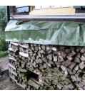 Noor Holz-Abdeckplane aus PP/PE-Gewebe