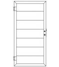 TraumGarten Design WPC Alu anthrazit 180x180 cm