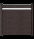 GroJa Solid Stecksystem Bausatz inkl. Glas-Designeinsatz 15cm anthrazit