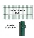 Kraus DS 8/6/8 - 2510 mm grün Pfosten K Komplettset