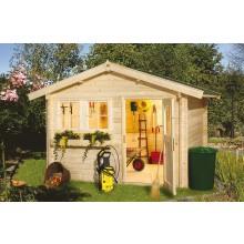 Weka 45 mm Gartenhaus 139 mit Vordach (20 cm)