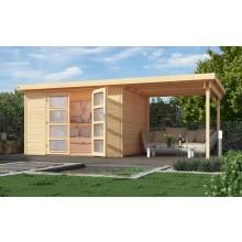 Weka Gartenhaus 321 mit 230 cm Anbau - 19 mm