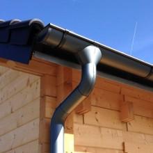 Metall Dachrinnenset für Skan Holz Terrassenüberdachung Andria/Ancona 434 cm