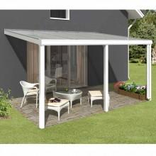 Skan Holz Aluminium Terrassenüberdachung Garda Breite 434 cm
