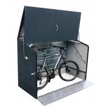 Tepro Fahrradbox anthrazit mit klappbarem Deckel & Einfahrtsrampe
