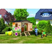 Karibu Woodfeeling Spielhaus Bauwagen inkl. Dachschindeln - Aktionsangebot