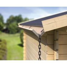 Karibu Holzdachrinnen-Set für Flachdächer - Grundpaket