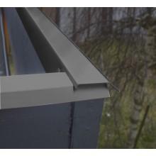 Blendenabdeckung für Gartenhäuser anthrazit (1 Stück, Typ 1b breit)