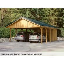 Skan Holz Sauerland - Satteldach Doppelcarport Breite 620 cm
