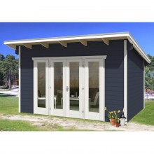 Skan Holz 28 mm Gartenhaus Ostende 2 inkl. gratis Fundamentanker/Pads
