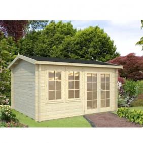 Palmako Gartenhaus Iris 11,1 m² - 44 mm - naturbelassen