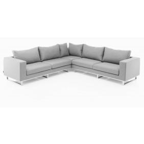 Kettler EGO Lounge-Set SUNBRELLA silber/flanelle und Bezug grau meliert